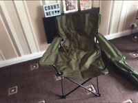 Two army grade camping chairs