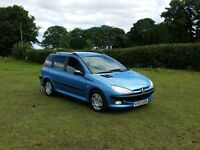 03 REG PEUGEOT 206 SW 2.0 HDI ESTATE XT BLUE 5DR DRIVE-AWAY SPARES OR REPAIRS VERY CHEAP BARGAIN CAR