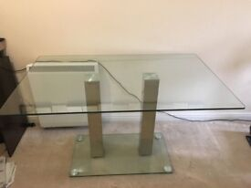 Pre-Owned Glass Dining Table Chrome Legs- Make a Reasonable Offer