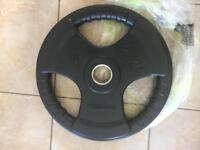 2 x 25kg Olympic rubber radial plates