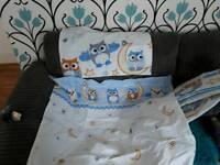Cot bumper and bedding