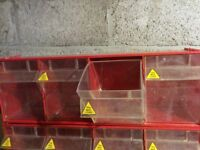 2 sets of storage drawers for garage / shed / van. 600x200x140mm.