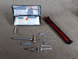 Bmw tool kit and first aid box