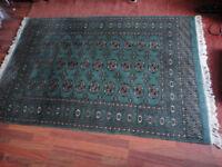 Bokhara Wool Rug Green