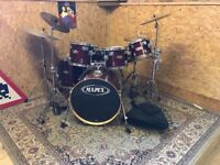 Mapex 5 piece drum kit in Cherry Red