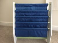 Sling bookcase for kiddies bedroom. From smoke and pet free home