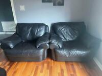 Real leather sofa seats