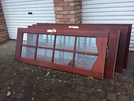 4 x Internal Glass Doors - Mahogany
