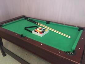 6FT REVERSIBLE POOL/ELECTRIC AIR HOCKEY TABLE