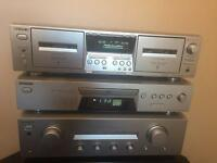 Sony seperates amp cd and cassette in silver