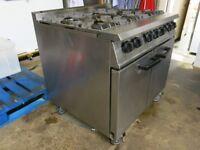 Falcon Dominator 6 Burner Commercial Cooker Cooking Range Natural Gas