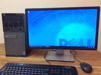 """FLL SET DELL 3020 - i5 4570 - 8GB Ram - 500GB + WiFi - 22"""" Dell Monitor Windows 10 Computer PC"""