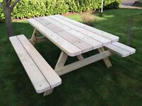 HAND MADE PRESSURE TREATED TANALISED 4FT PICNIC BENCH