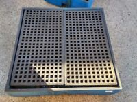 Chemical bund 1250mm x 1250mm. Will take 4 205 litre drums