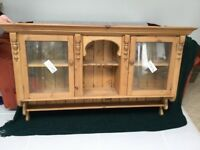 Pine wall hung cabinet.