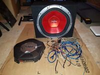 Sony 1400w subwoofer, 1600w amp and wiring