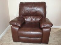 Leather Reclining Chair used and still in very good condition electric operation