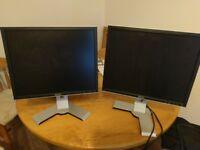 """Two Dell 1908fpc 19"""" Monitors"""