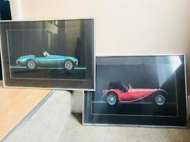 2 Silver Framed Car Prints