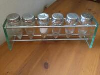 Spice rack with shakers