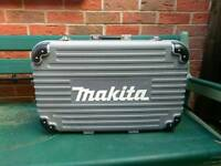 Sold!! Makita case with removable inserts plus keys.