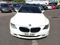 2005BMW 630I AUTOMATIC CONVERTIBLE WHITE