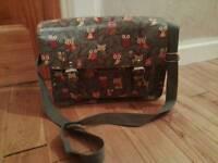 Womans Owl Satchel Handbag
