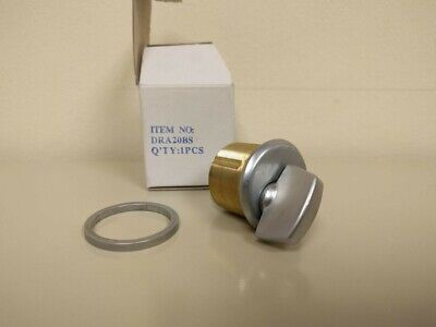 CRL Brushed Stainless Mortise Thumbturn Cylinder DRA20BS ()