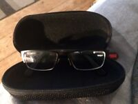 Totally unworn No Fear kids black glasses