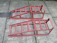 Car repair ramps Paddy Hopkirk
