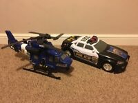 Tonka helicopter & police car