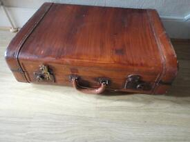 Vintage Leather Type Suitcase