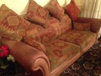 3 Seater PARKER KNOLL Sofa + 2 Chairs Seater