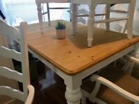 Pine Table 6 Chairs Free Delivery