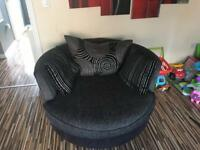 Sofa bed and swivel chair for sale