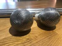 Chrome Curtain poles and ends