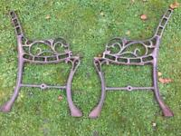 Cast iron garden bench or chair ends