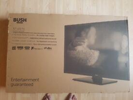"bush 32""led tv brand new."