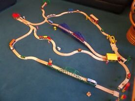 Large Wooden Train Track, Trains, Bridges & Accessories