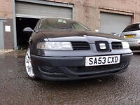 53 SEAT LEON 1.4 5 DOOR,MOT AUG 017,PART HISTORY,3 OWNERS FROM NEW,GREAT DRIVING CAR,VERY RELIABLE