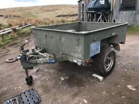 Ex mod British army wide track sankey trailer