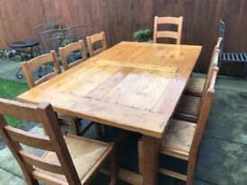 Bespoke dining table and 8 chairs