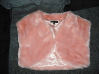 Age 11-12 girls baby pink shrug New