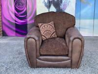 New Gatsby Armchair In Faux Snakeskin And Chenille in Chocolate