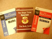Key Stage Three Maths, Spanish and Science Revision Guides