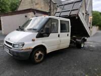 Ford transit crew cab tipper mot dec spares or repairs