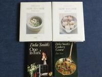 Cook books Delia Smith 4 book for £2.00