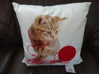 New Tagged Large Cat with a Ball of Wool Cushion Ideal Gift Only £5 ideal gift