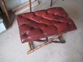 Leather topped bench seat