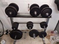 Physionics dumbbell / weight plate rack